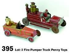 395 Fire Pumper Truck Penny Toys