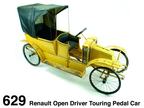 629: Renault Open Driver Touring Pedal Car