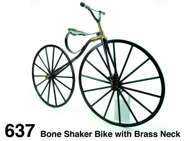 637: Bone Shaker Bike with Brass Neck