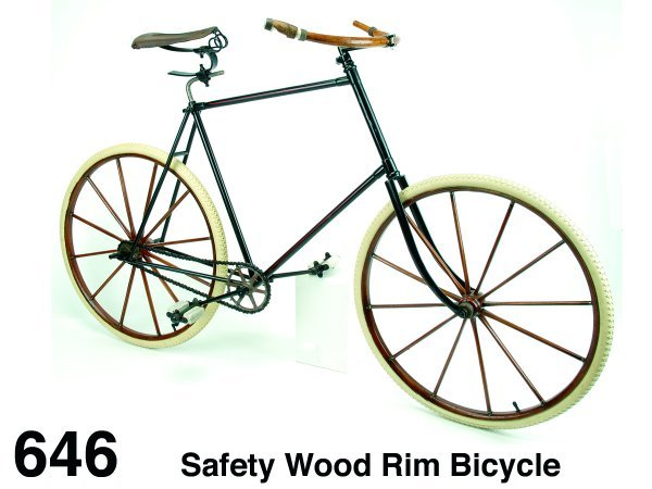 646: Safety Wood Rim Bicycle