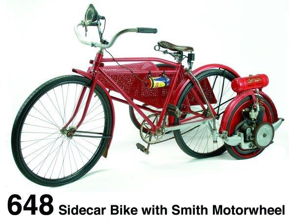 648: Sidecar Bike with Smith Motorwheel