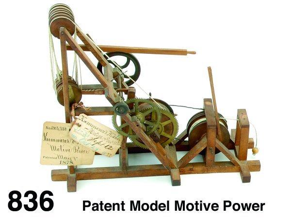 836: Patent Model Motive Power