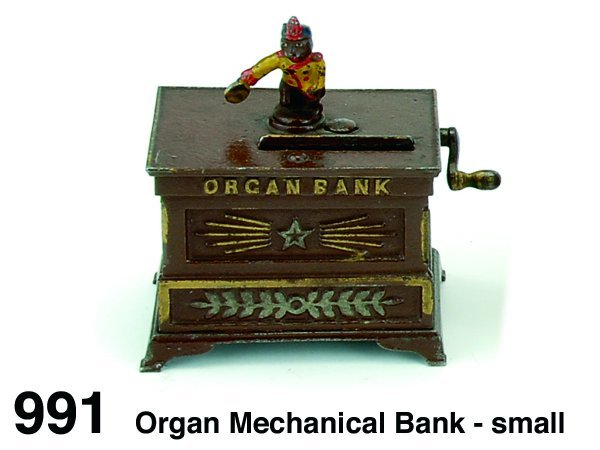 991: Organ Mechanical Bank - small