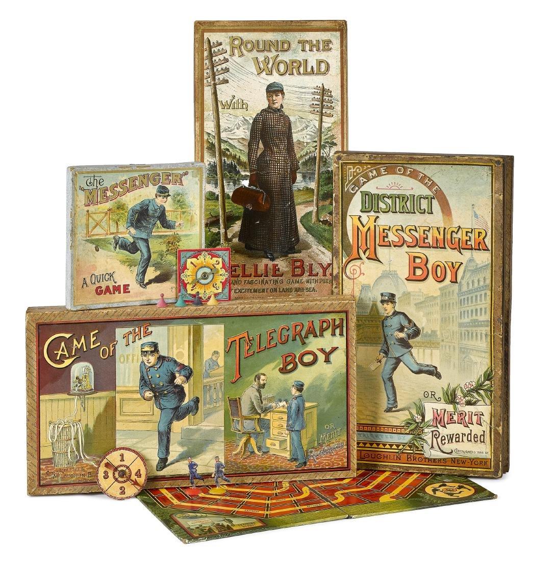 Four McLoughlin Bros. board games