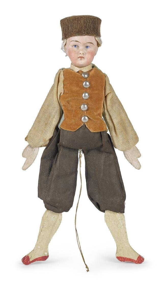 Bisque head jumping jack doll