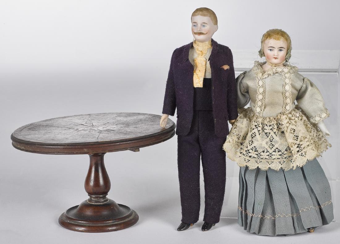 Bisque dollhouse dolls