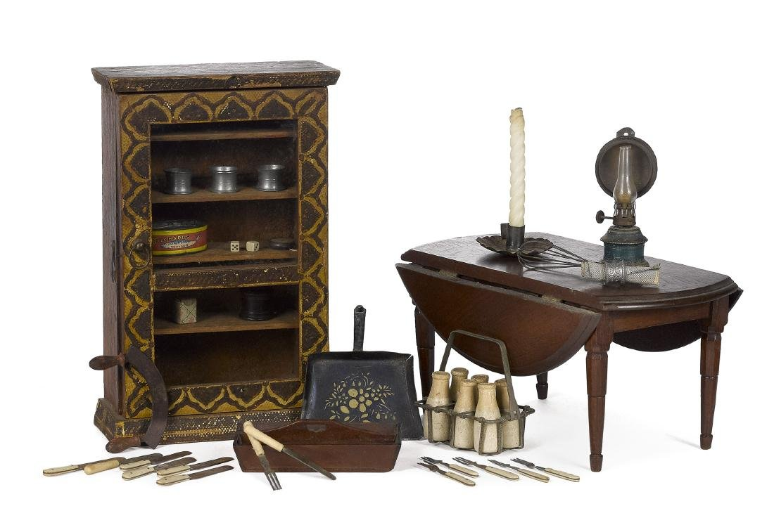Doll size and large scale dollhouse furniture