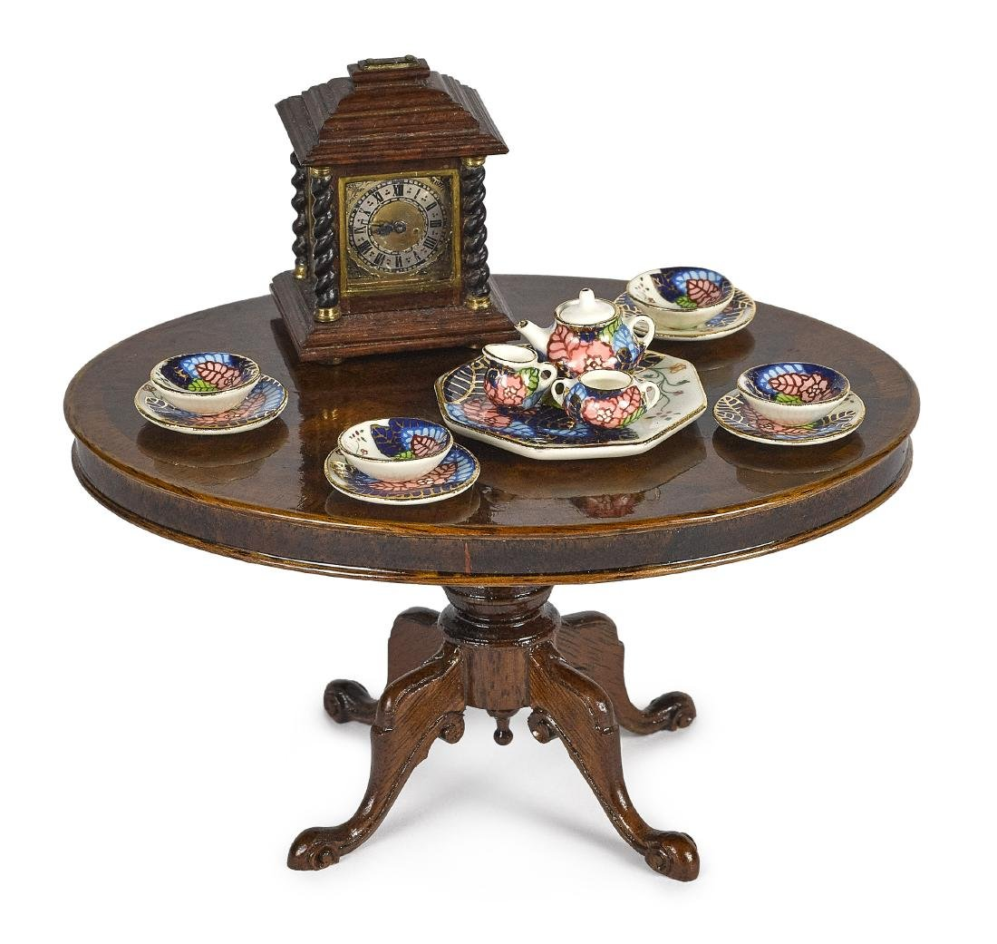 John Hodgson parlor table and accessories