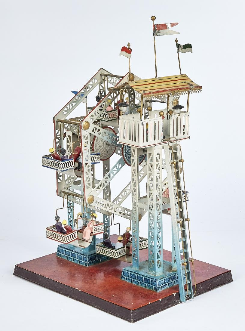 Doll & Cie tin Ferris wheel steam toy #729/5 - 2