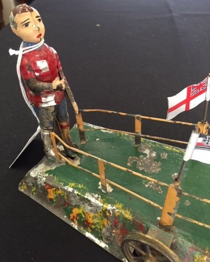 Painted tin soccer players steam toy accessory - 4
