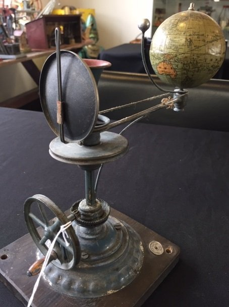 Plank painted tin orrery steam toy accessory - 3