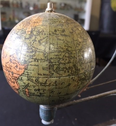 Plank painted tin orrery steam toy accessory - 5