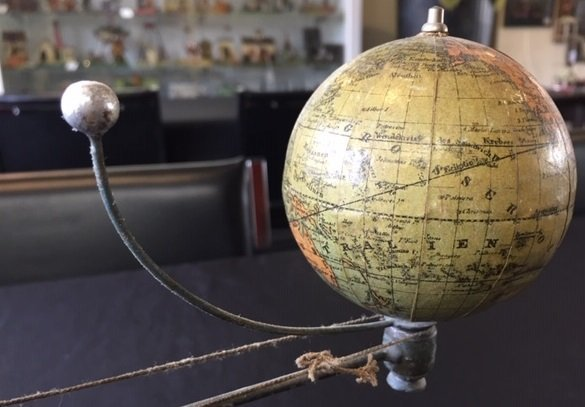 Plank painted tin orrery steam toy accessory - 6