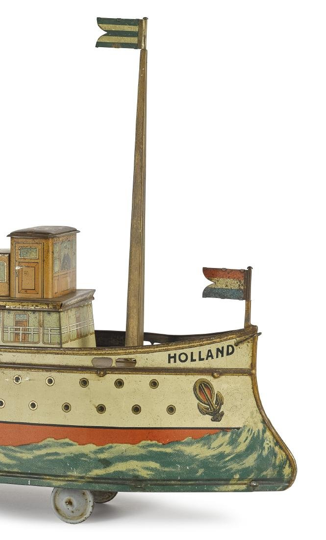 Holland ocean liner biscuit tin pull toy - 2