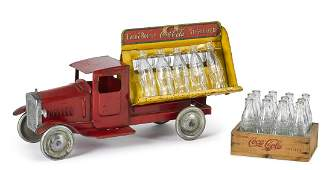 Metalcraft pressed steel CocaCola delivery truck