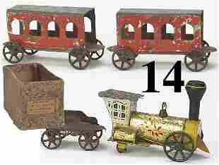 14: George Brown Locomotive with box and cars