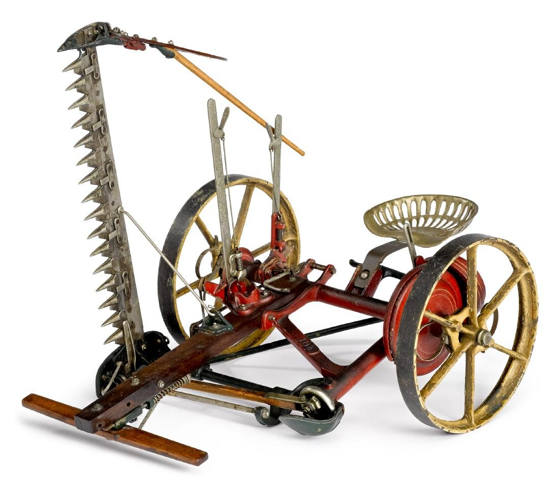 Salesman sample horse drawn sickle mower