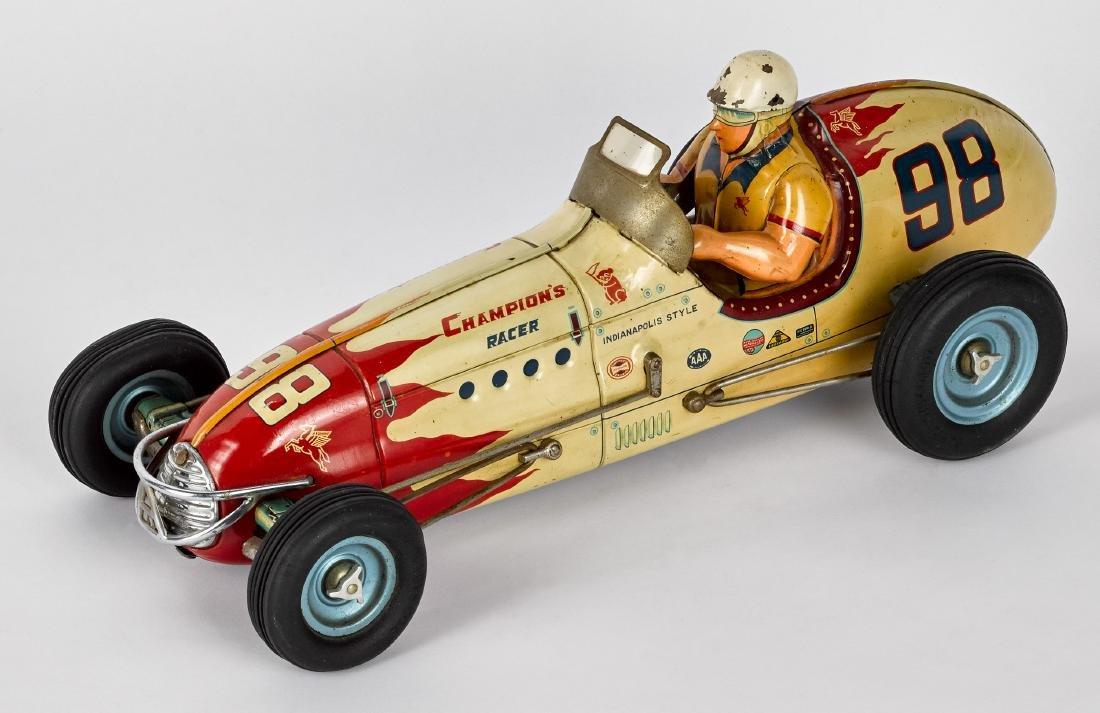 Japanese tin lithograph open wheel race car