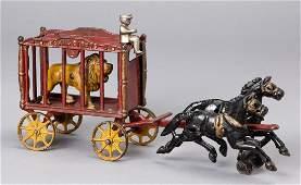 Hubley cast iron horse drawn Royal Circus wagon