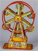Chein tin lithograph windup Hercules Ferris wheel