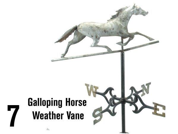 7: Galloping Horse Weather Vane