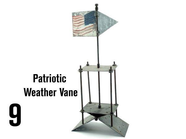 9: Patriotic Weather Vane