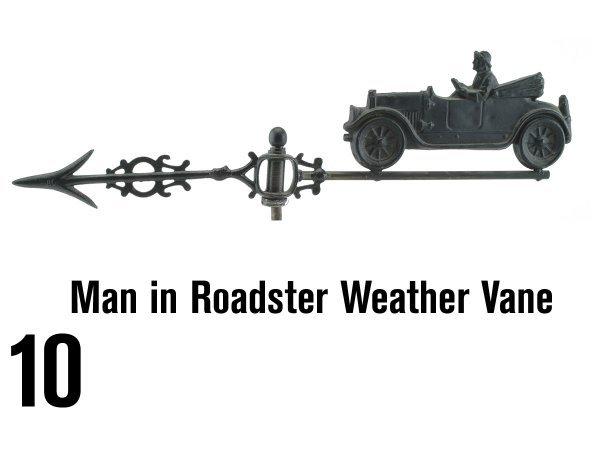 10: Man in Roadster Weather Vane