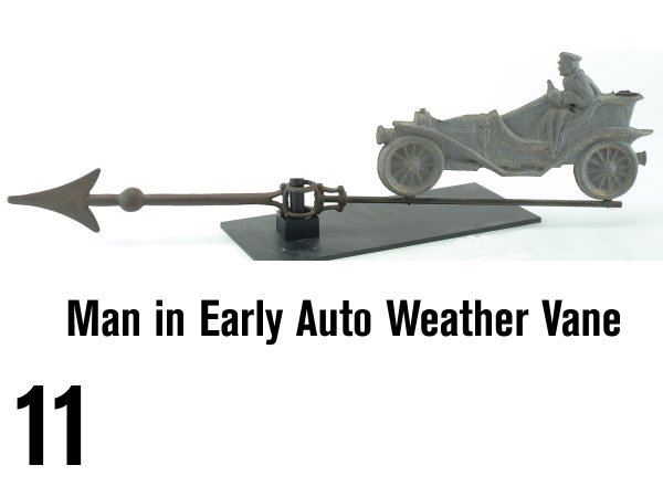 11: Man in Early Auto Weather Vane
