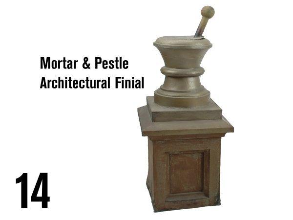 14: Mortar & Pestle Architectural Finial
