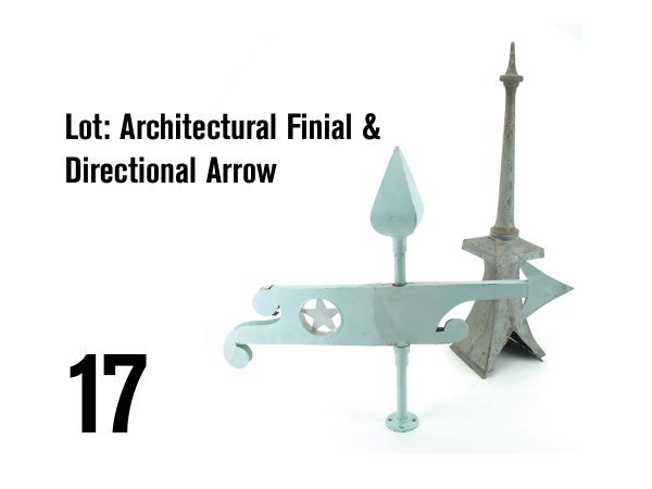 17: Lot: Architectural Finial & Directional Arrow