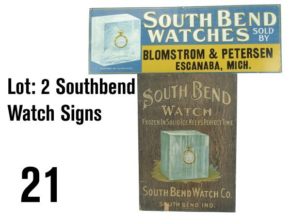 21: Lot: 2 Southbend Watch Signs