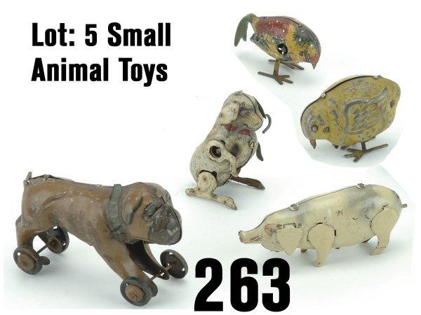 263: Lot:5 Small Animal Toys