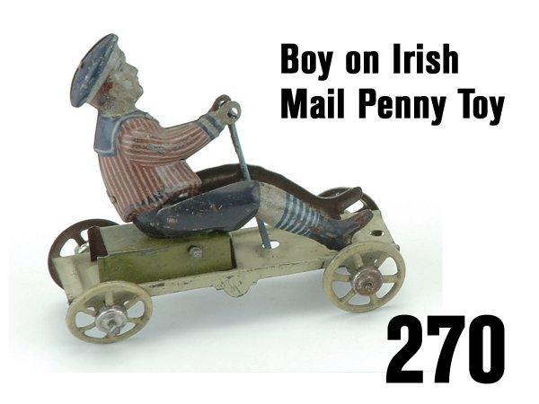 270: Boy on Irish Mail Penny Toy