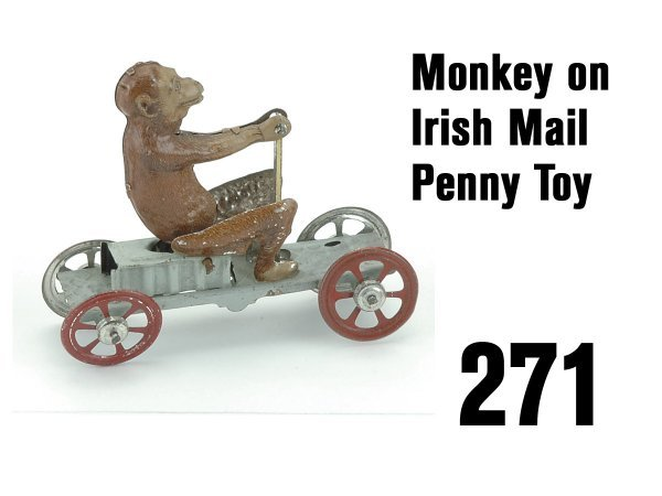 271: Monkey on Irish Mail Penny Toy