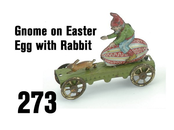 273: Gnome on Easter Egg with Rabbit