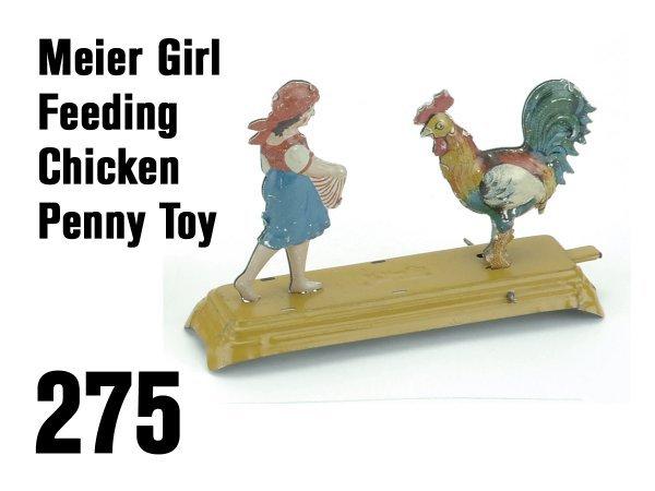 275: Meier Girl Feeding Chicken Penny Toy