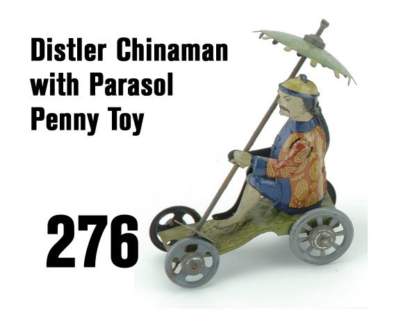 276: Distler Chinaman with Parasol Penny Toy