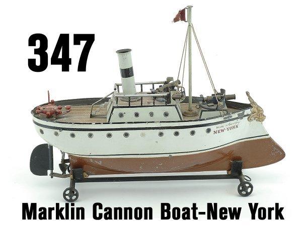 347: Marklin Cannon Boat-New York