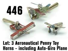 446 Aeronautical Penny Toy Horns  including Au