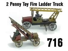 716 Penny Toy Fire Ladder Trucks