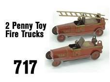 717 Penny Toy Fire Trucks