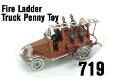 719 Fire Ladder Truck Penny Toy