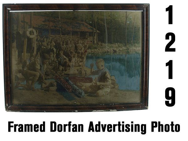 1219: Framed Dorfan Advertising Photo