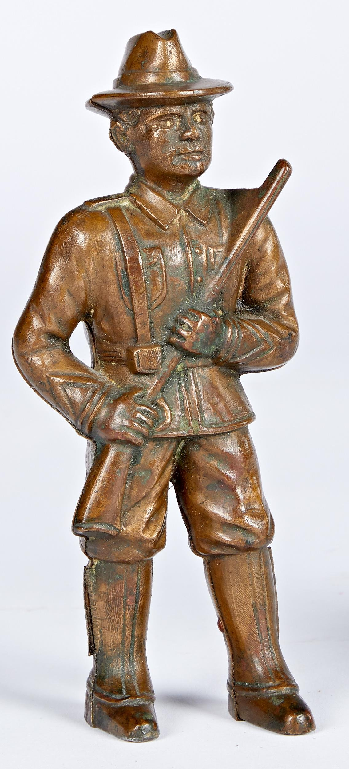 Hubley cast brass soldier still bank pattern
