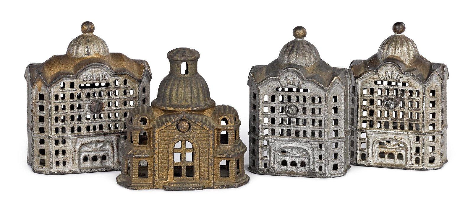 Four cast iron building still banks