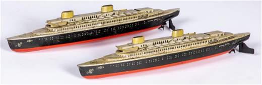 Two Kellerman US Zone Germany windup ocean liner