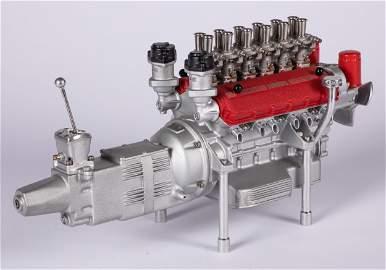 Aluminum Ferrari engine and transmission model