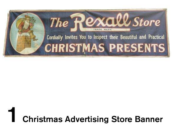 1: Christmas Advertising Store Banner