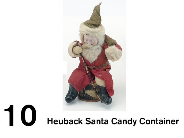 10: Heuback Santa Candy Container