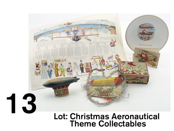 13: Lot of Christmas Aeronautical Theme Collectables